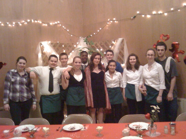 Youth Group at the 2011 Pasta Dinner.