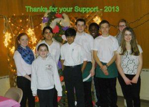 Wesley UMC Youth Group members at the 2013 Pasta Dinner
