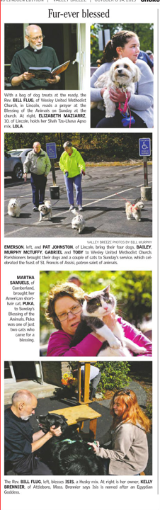 Annual Blessing of the Animals | Wesley United Methodist Church